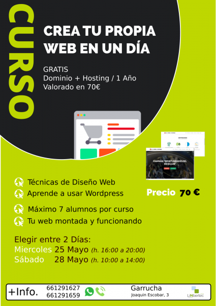 Cartel Curso Web